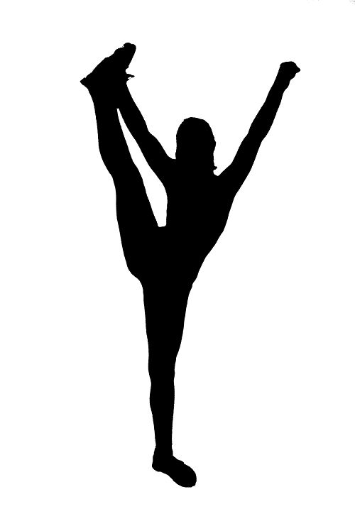 Cheerleading stunt silhouette go back gallery for for Party wall act template