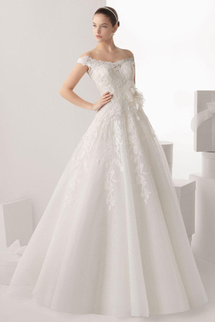 Robe de mariée princesse en tulle rose fuchsia bustier dentelle ...