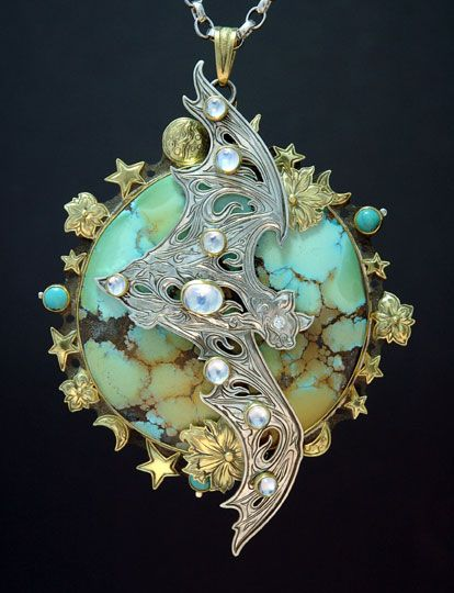 Bat Pendant by Kit Carson - http://www.kitcarsonjewelry.com/