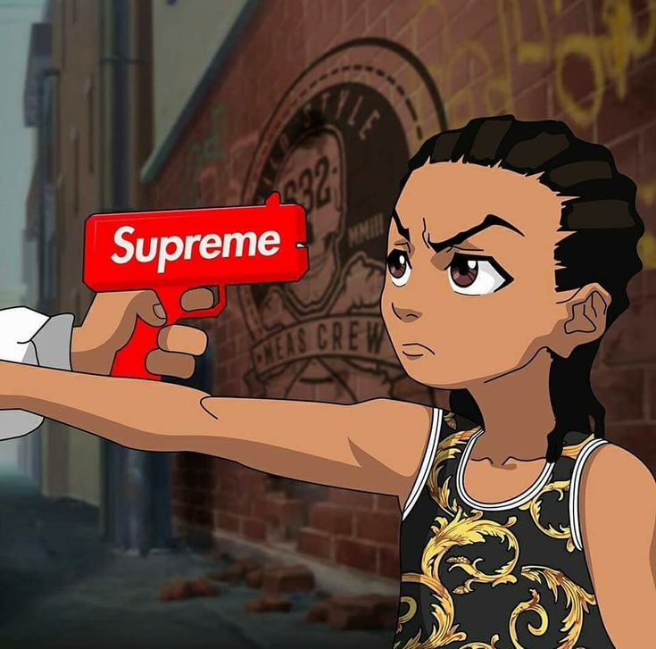 Pin by justine lewis on backgrounds pinterest dope art - Supreme boondocks ...