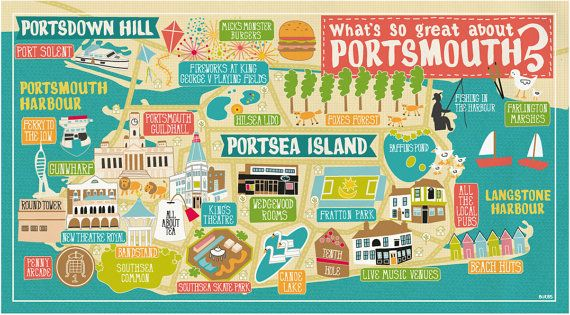 What's so great about Portsmouth map by madebyburbs on Etsy, £14.95