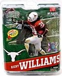 Ricky Williams University of Texas College Football Figure Manufacturer: McFarlane Toys Series: McFarlane Toys College Football Sports Picks Series 4 Release Date: July 2012 For ages: 4 and up UPC: 787926747119 Details (Description): The 1998 Heisman trophy winner is our first-ever University of Texas figure. Over his career with the Longhorns, Williams held or shared 20 NCAA records including career rushing. He was selected fifth in the 1999 NFL Draft by the New Orleans, with the Saints ...