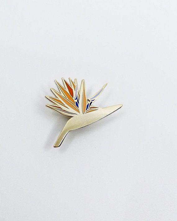 Bird Of Paradise Hard Enamel Cloisonne Pin Etsy Birds Of Paradise Flower Birds Of Paradise Cloisonne Pin