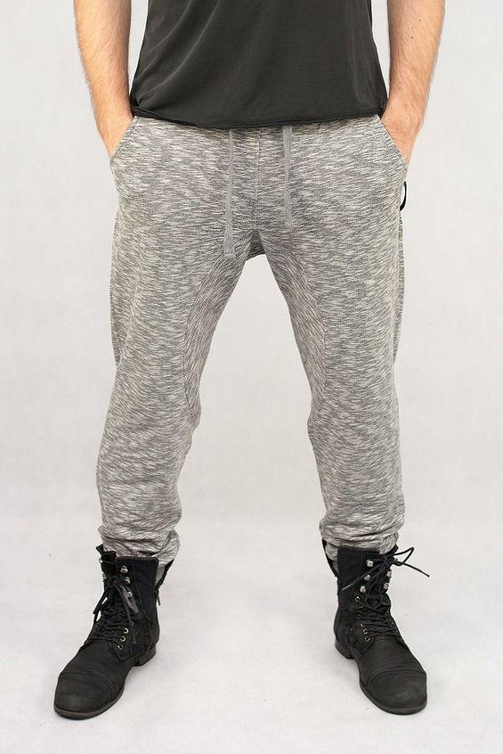Spodnie męskie FIT szare