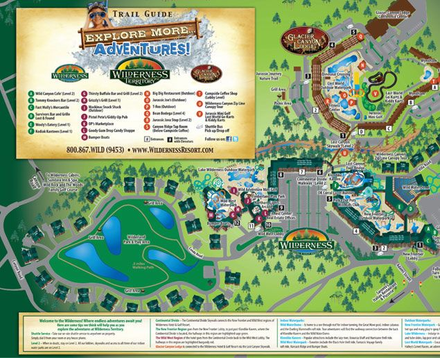 WIlderness Resort Map  Join us for the SPLASH - Click on image above for more info - then register!