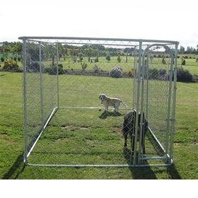 Opentip.com: ALEKO DOGKENNEL13X7X6-AP Dog Kennel 13' x 7 1/2' x 6' DIY Box Kennel Chain Link Dog Pet System
