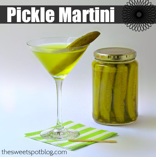 Pickle Martini by The Sweet Spot Blog http://thesweetspotblog.com/pickle-martini/
