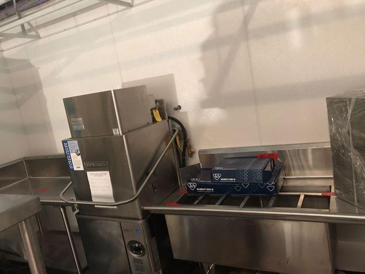 A Hobart rack dishwasher  https://www.culinarydepotinc.com/brands/hobart  #CulinaryDepot #Hobart #Dishwasher #CommercialKitchen #RestaurantEquipment #Chef #Sanitize #Wash #Clean