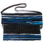 Boho Messenger Bag in Blue Tones