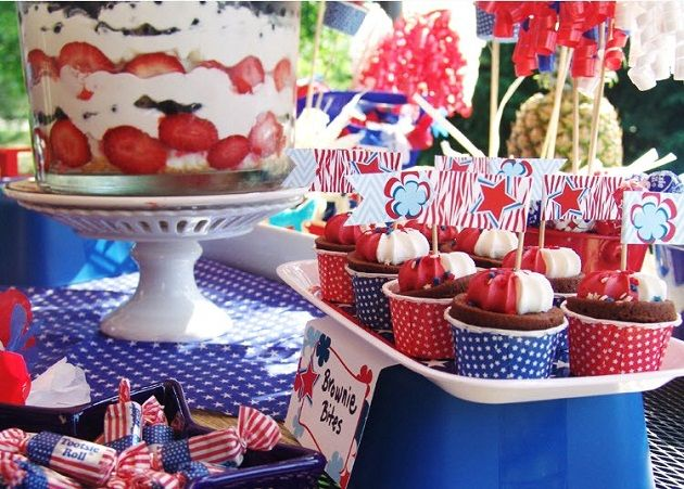 Patriotic Party for any budget. Many items from the Dollar Tree!