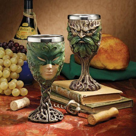 Forest Spirits Greenman Goblet Collection Grendal the Green