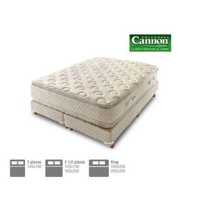 Hacé tus sueños más felices con el Colchón y sommier de resortes Cannon Modelo Sublime con Pillow Top. Varias medidas disponibles. Envíos a todo el país. | Compunera