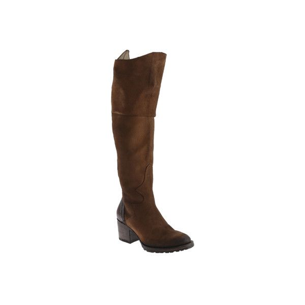 Women's FREEBIRD by Steven Fuego Boot ($161) ❤ liked on Polyvore featuring shoes, boots, casual, tan, thigh high boots, over knee high boots, tan leather boots, knee high leather boots, over the knee leather boots and over the knee thigh high boots