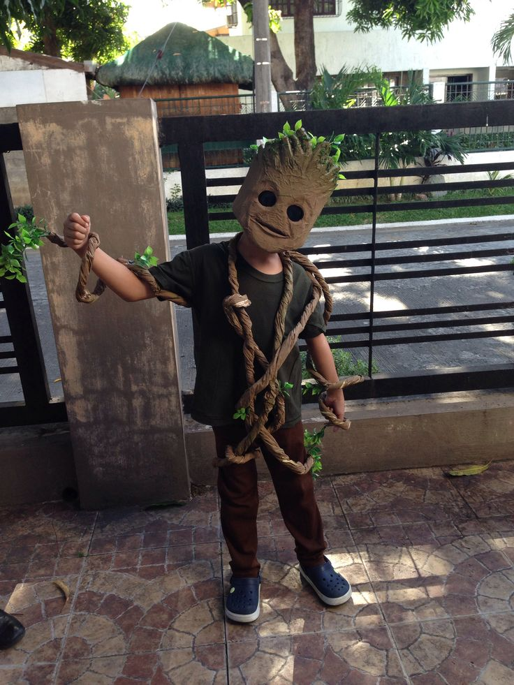 Our Son Mason As Baby Groot Halloween 2014 Made With