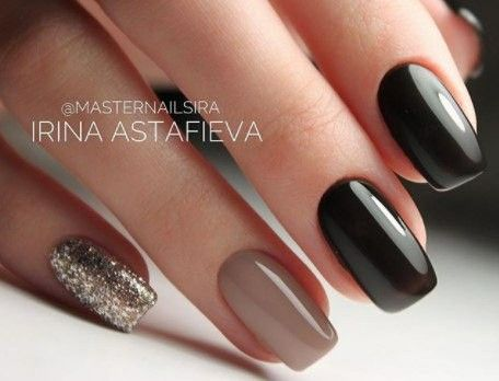 Dark & neutral nails