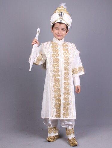 Kayı krem altın şehzade sünnet kıyafeti