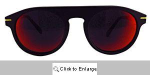 Road Racer Aviators Sunglasses - 562 Black/Red