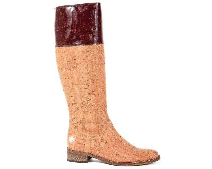 "Boot ""Estrela do Mar""   Beige by rutz   walk in cork #cork   #shoes   #boots   #fashion   #apparel   #portugal   #rutz   #kurk   #corcho"