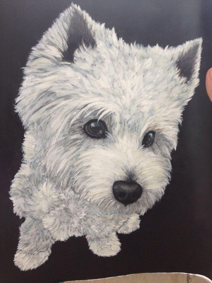 Mine westie painting   How to draw westie   Westies, Dogs ...