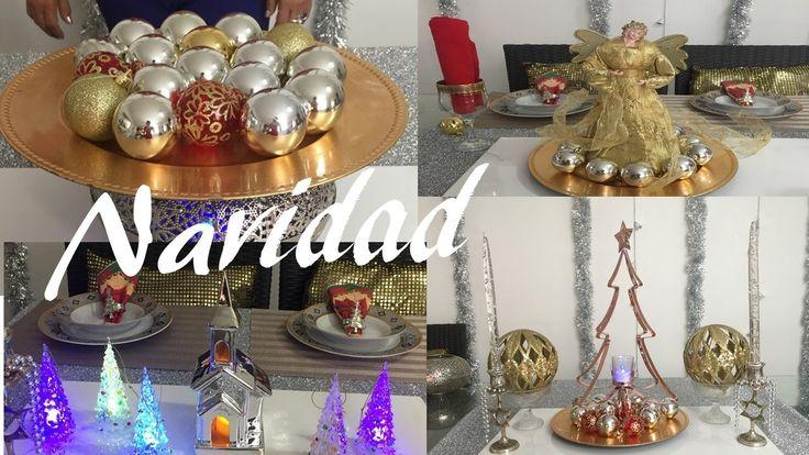 Decoración navideña  Christmas table centers