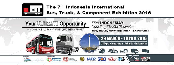 The 7th Indonesia International Bus, Truck, Heavy Duty Vehicle & Equipment Exhibition 2016. #expoindonesia
