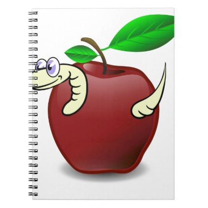 #Red Apple Notebook - #office #gifts #giftideas #business