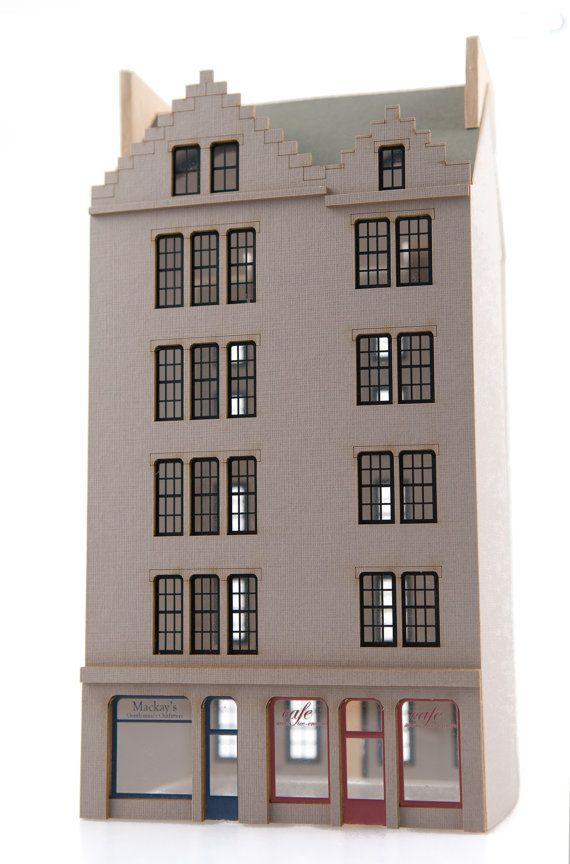Edinburgh Old Town model kit by finchandfouracre on Etsy