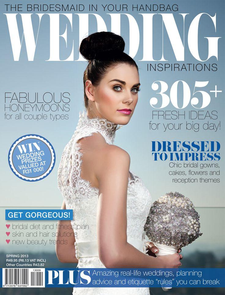 Cover for Spring 2013 (September 2013) Wedding Inspirations issue. www.weddinginspirations.co.za