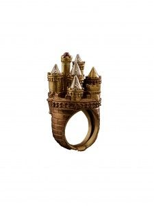 Alchemical Crown in Bronze Ring