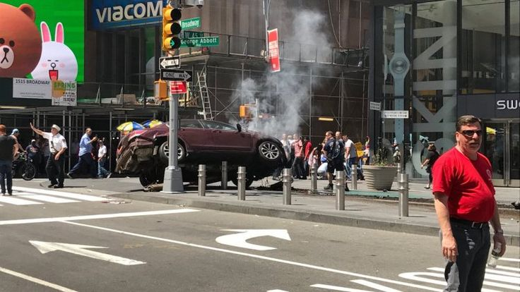 Times Square Attack: One Dead and 22 Injured after Speeding Car Drove into Pedestrians