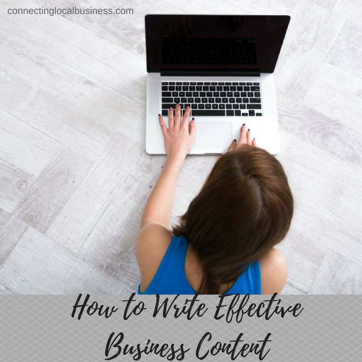 Explore what business content means to your business and how to write it effectively in this free report How to Write Effective Business Content