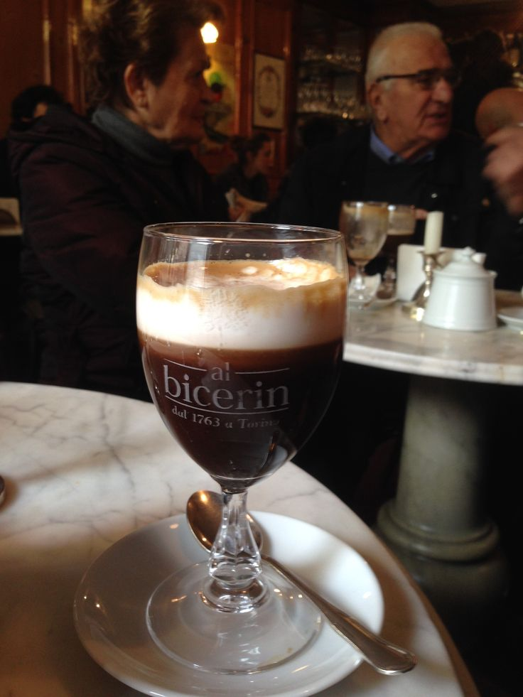 The traditional 'bicerin' - a delicious combination of coffee, chocolate & cream