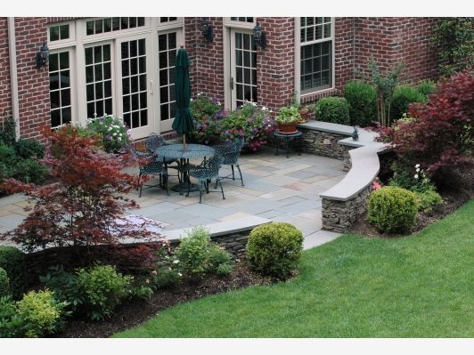 Patio Wall Design design for patio brick patio wall designs round brick patio elegant brick patio wall designs Patio Home And Garden Design Ideas Like The Landscaping Around The Patio