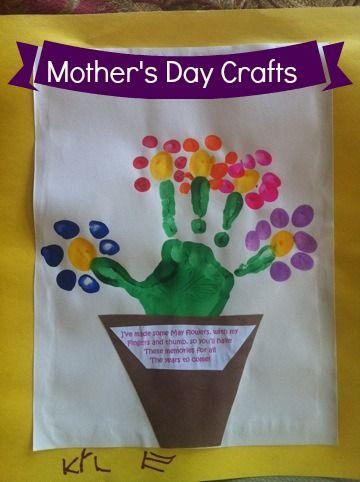 Mother S Day Handprint And Fingerprint Craft Ideas