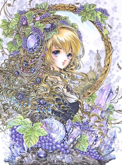 Grape princess by manga artist Shiitake.