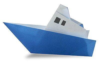 Origami Steam Ship