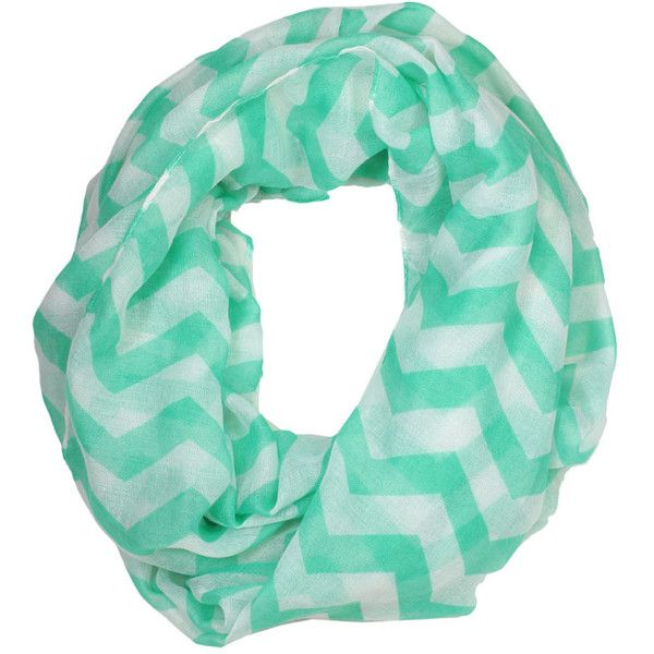 Mint Chevron Scarf (2.830 UYU) ❤ liked on Polyvore featuring accessories, scarves, mint scarves, chevron scarves and mint green scarves