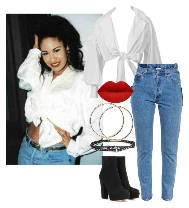 """Selena Quintanilla"" by jeansfitright14 ❤ liked on Polyvore featuring Vetements, Gianvito Rossi, Chicnova Fashion and 90s"