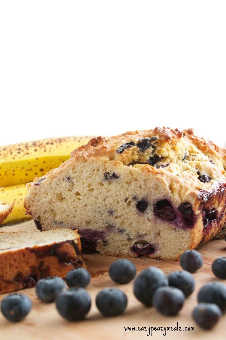Blueberry Banana Bread - Eazy Peazy Mealz