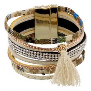 dikke armband crème Ibiza style bracelet sieraden jewelry