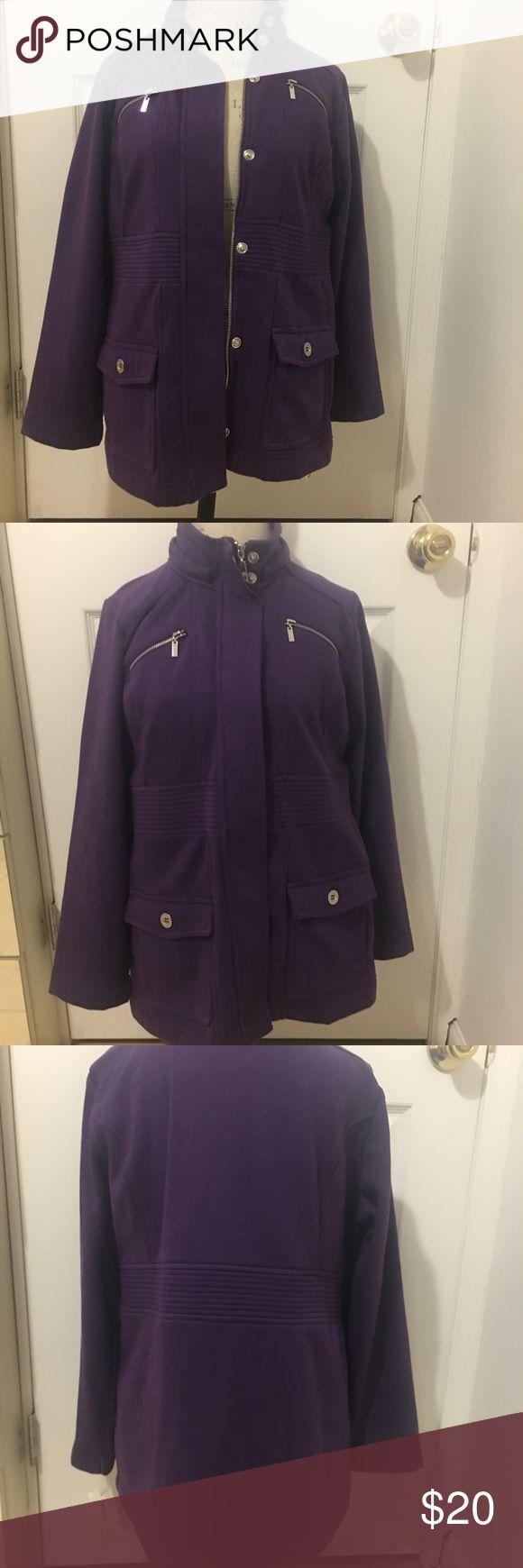 Style & Co Zip Sweatshirt Jacket-like zip up sweatshirt. Super comfy! Brand new. Open to reasonable offers. Please note this is petite size Large!! Style & Co Tops Sweatshirts & Hoodies
