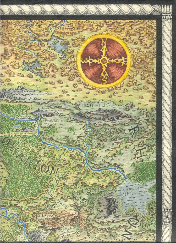Middle Earth map by