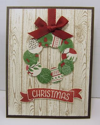 Personally Yours: Stampin With Scraps: Christmas Wreath