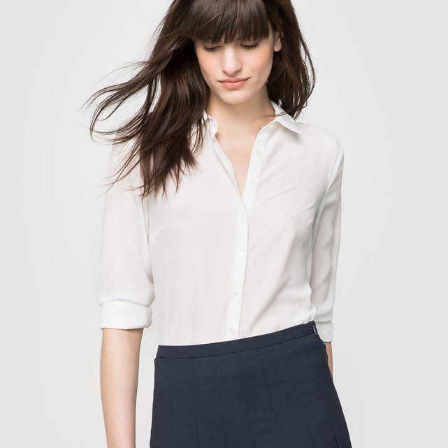 Image Jedwabna koszula z długim rękawem - LAURA CLEMENT LAURA CLEMENT