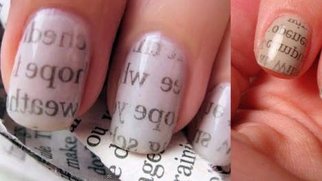 i like tekst on my nails ;)