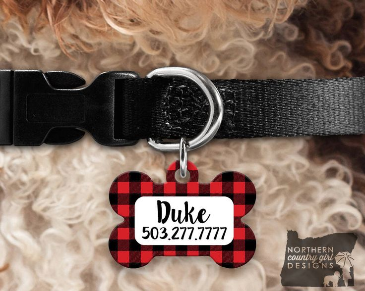 Custom Dog Tag for Dogs Dog ID Tags Personalized Pet Buffalo Plaid Pet Tag Pet Tags Pet ID Tag Pet id Tags for Dog Tag ID Dog Tag Dog Tags by NorthernCountryGirlD on Etsy https://www.etsy.com/listing/539372387/custom-dog-tag-for-dogs-dog-id-tags