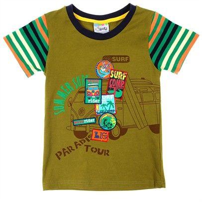 green boys tshirt skootz kidswear clothingTop-SN2-AJ65008-C-Green $14.00 on Ozsale.com.au