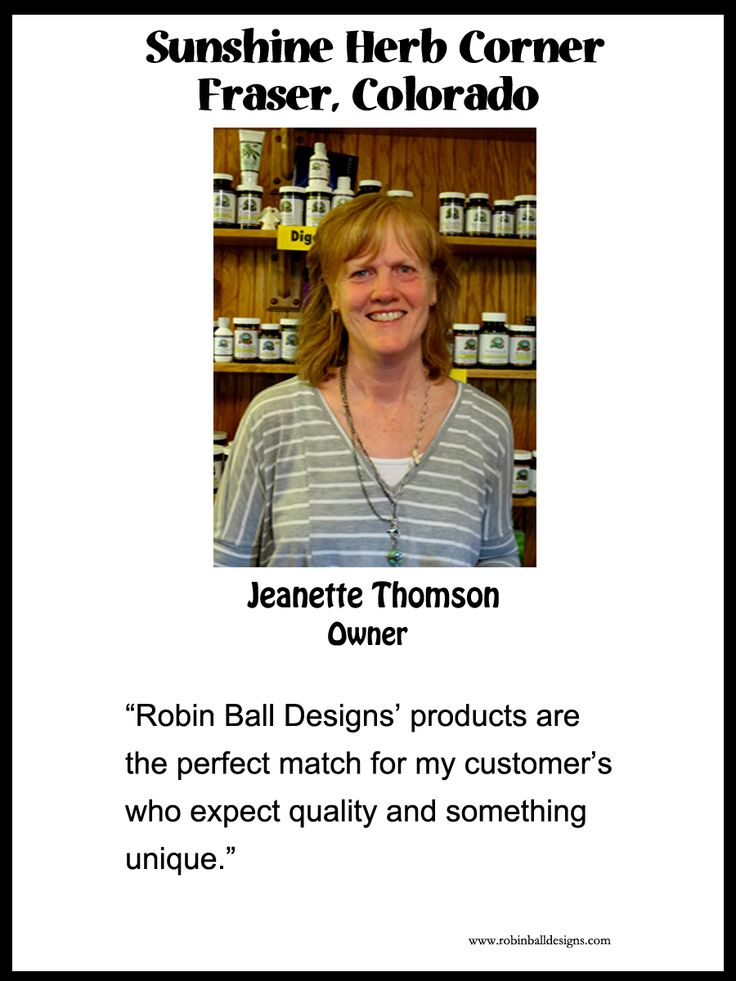 Jeanette owns a fabulous natural foods store and also sells beautiful objects of art. I am proud to have my products represented in her shop.