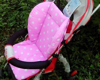 Comfortable Cotton Stroller Seat Cushion Polka Dots Rainbow Thick Mat Pink/Blue/Purple/Green  Accessories Pad Pram Padding Liner