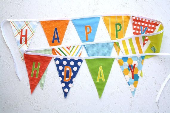 Happy Birthday fabric flag banner garland by Sparkle Power $42.00Flags Banners, Happy Birthday, Birthday Banners, Banners Garlands, Birthday Fabrics, Sparkle Power, Birthday Garlands, Birthday Ideas, Fabrics Flags